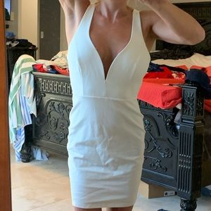 Lulus cream dress size med